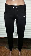 Женские спортивные брюки на манжете-трикотаж