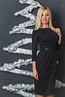 Женское трикотажное платье с бантиками