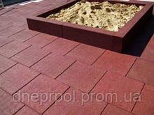Резиновая плитка для детских площадок 20 мм