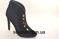 Черные женские летние ботинки