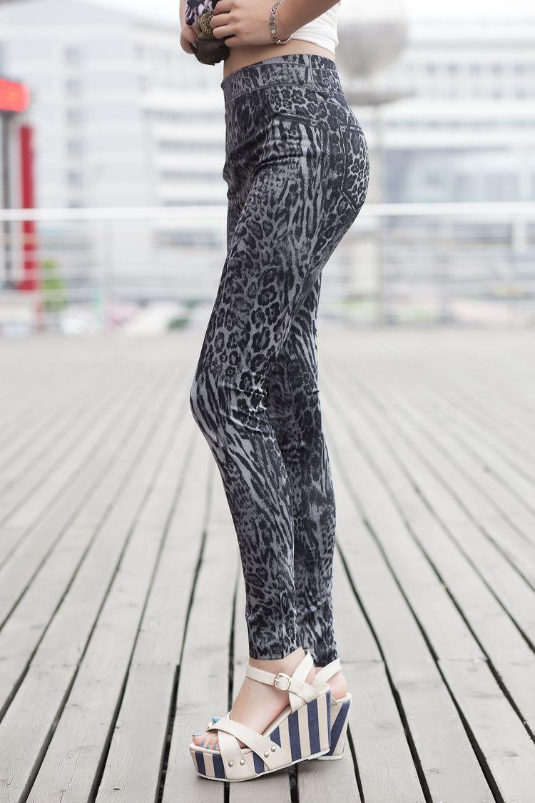 Леопардовые лосины AL6787