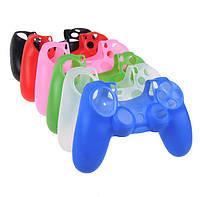 Чехол силиконовый для джойстика PS4 однотонный, защитный чехол для геймпада
