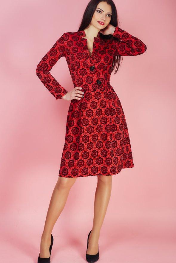 Женские платья красное с принтом
