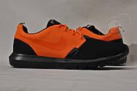 Кроссовки мужские Nike Roshe Run Black-Orange