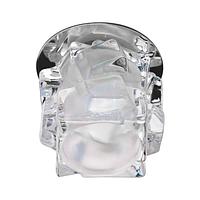 Встраиваемый светильник Feron JD108 прозрачный матовый хром 28310