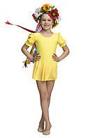 """Купальник  для танцев """"Фонарик"""" яркий желтый"""