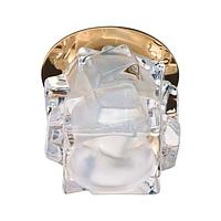 Встраиваемый светильник Feron JD108 прозрачный матовый золото 28311