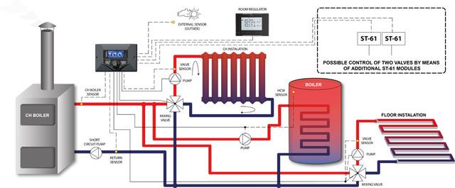 Схема подключения модуля Тех Ст 408