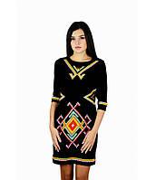"""Женское  вышитое черное платье  """"Таврия"""" М-1055-1, фото 1"""