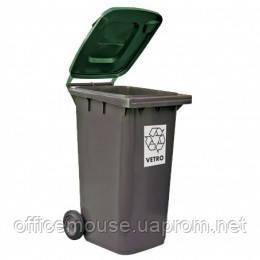 Контейнер евро, для мусора 240л пластик