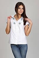Блузка с вышивкой ромашки Р42