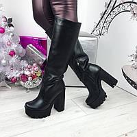 Женские  сапоги  европейка кожаные