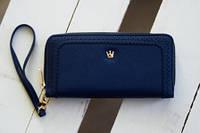 "Синий женский кошелек с ремешком ""антивор"" PRINCESS, фото 1"