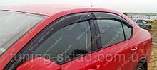 Вітровики вікон Шкода Октавія А7 (дефлектори бокових вікон Skoda Octavia A7)