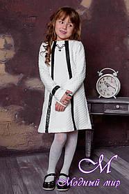 """Нарядное детское платье цвета молоко """"Мила"""" (р. 122, 152) арт. Мила 8099"""