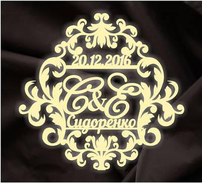 Монограмма свадебная, герб молодоженов 2