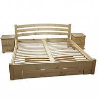 Двуспальная кровать «Венеция» из натурального дерева