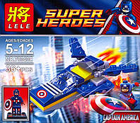Конструктор Lele Super Heroes аналог (LEGO Super Heroes) Capitan Amerika