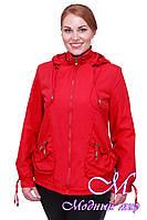 Женская осенняя куртка большого размера (р. 50-58) арт. Модница