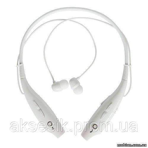 Стерео-наушники-гарнитура HBS 730 White Bluetooth  (беспроводные) с микрофоном