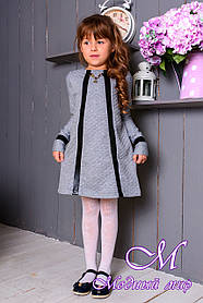 """Нарядное детское платье серого цвета """"Мила"""" (р. 122) арт. Мила 8100"""