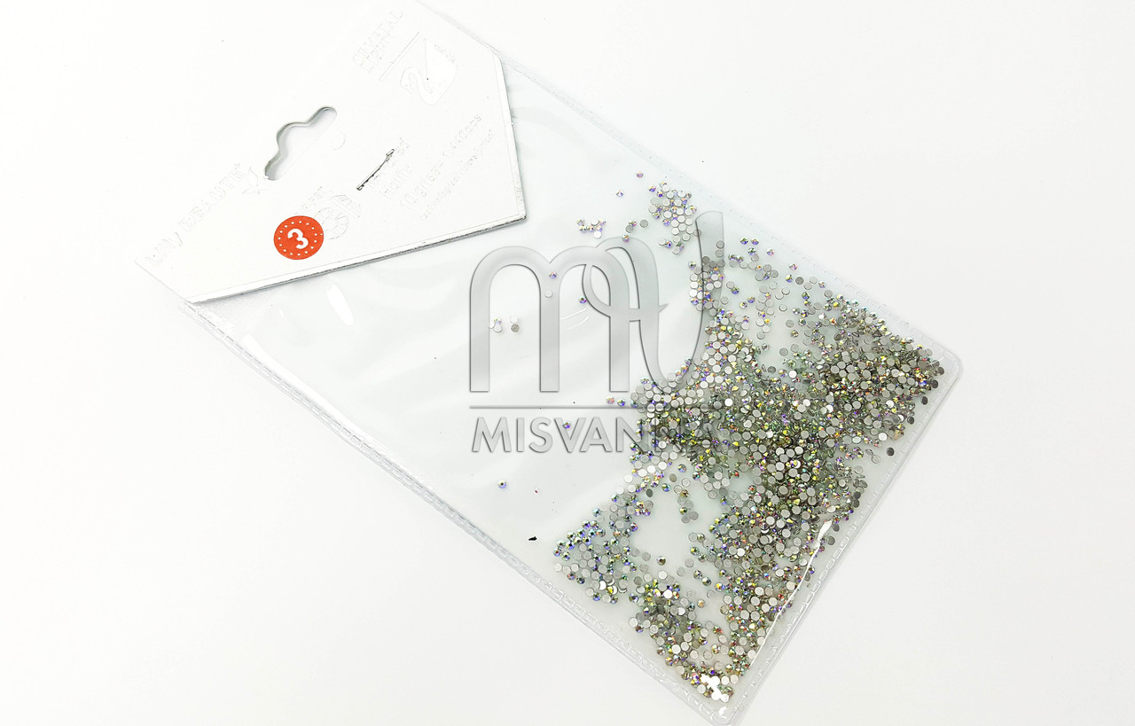 Камни Lilly Beaute аналог Сваровских размер SS3 1440 шт. белый хамелеон