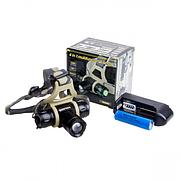 Фонарик диодный налобный BL-H820-12 000W/XPE/аккумулятор/зарядное 220V