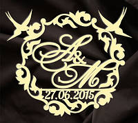 Монограмма свадебная, герб молодоженов 15