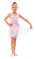 Юбка для танцев шифон на широких завязках белая