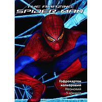 Гофрокартон цветной неоновый А4 Kite Spider-man (5 листов)