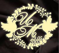 Монограмма свадебная, герб молодоженов 16