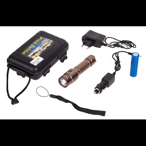 Фонарик диодный Small Sun R810 XPE 6000W/3 режима/аккум./12V/220V
