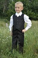 Костюм для мальчика: брюки + жилет (черный)