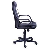 Кресло для руководителя Дрифт (1699) к/з PU черный/белые вставки