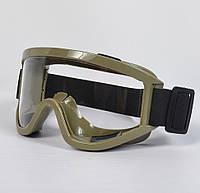 Тактические очки (маска) с прозрачным стеклом