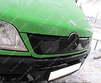 Зимняя накладка на решетку радиатора Мерседес Спринтер СДИ (заглушка решетки Mercedes Sprinter CDI), фото 1