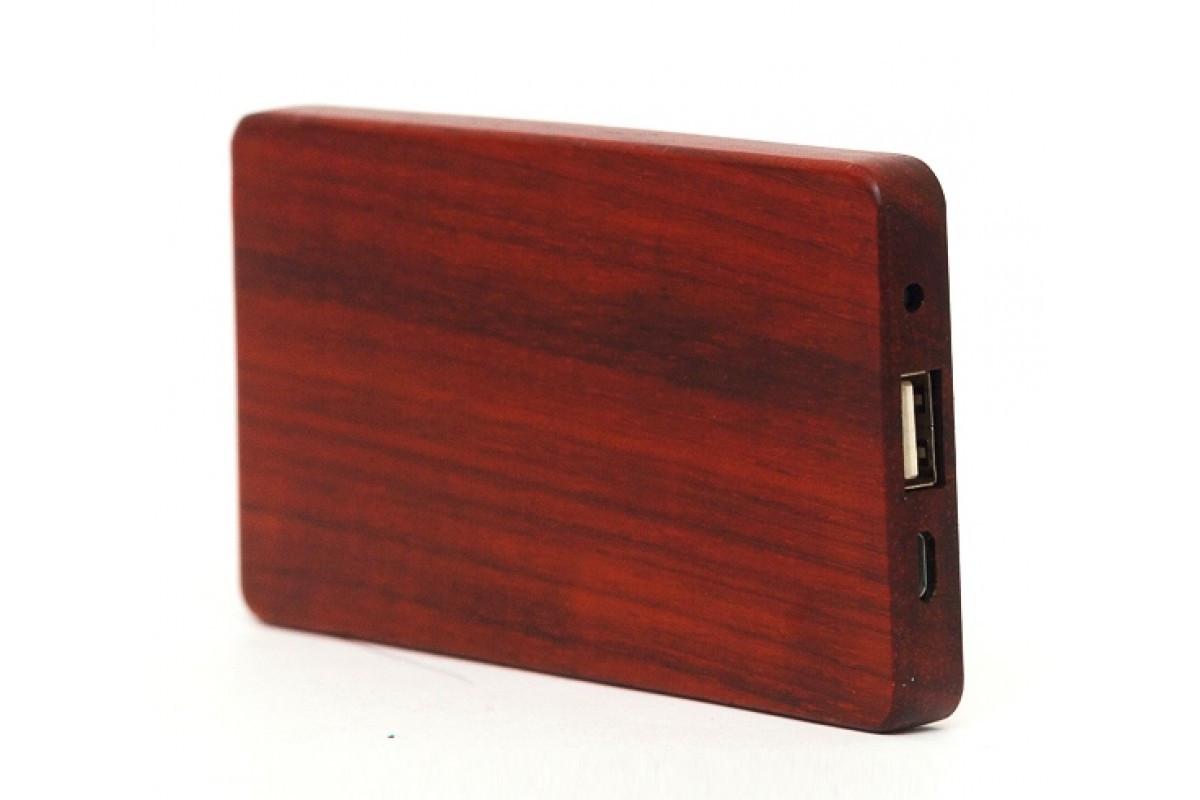 Эксклюзивный деревянный портативный аккумулятор Makore\Макоре