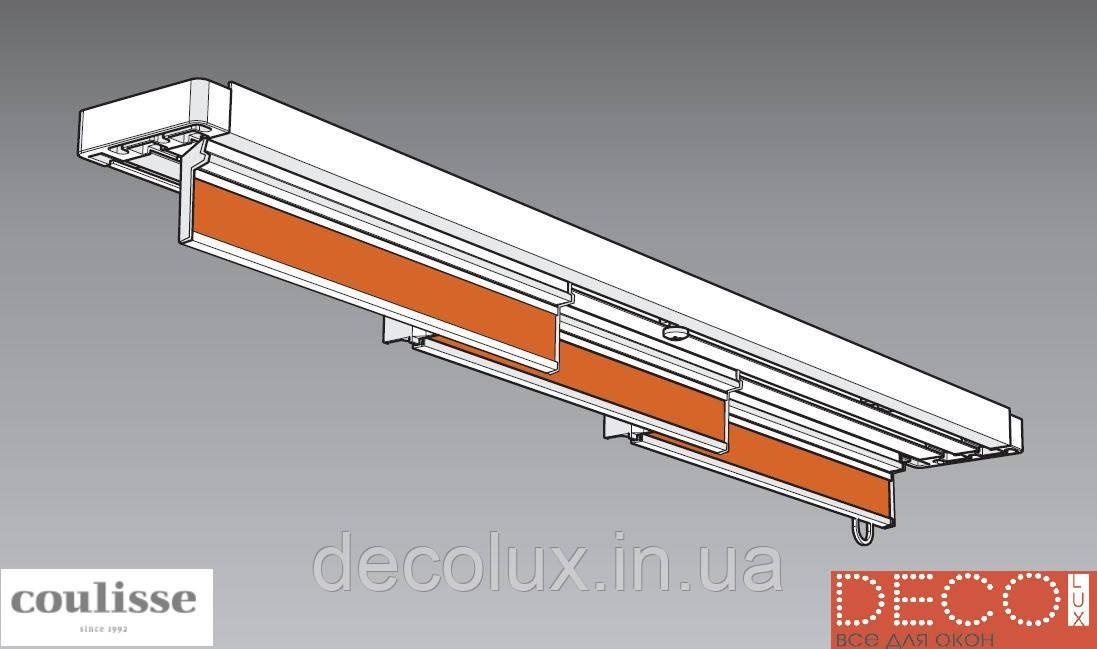 Японские шторы 200 см, 4 ламели, Coulisse Голландия, ручной привод