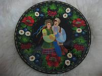 Тарелка расписная украинская тематика