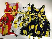 Красивое платье для девочек в расцветках