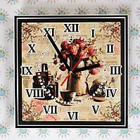 Квадратные настенные часы винтажные Картина