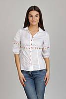 Блузка белая с вышивкой  Р103