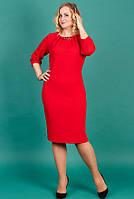 Шикарное платье для женщин батал красное
