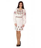 """Белое женское  вышитое платье  """"Летнее утро"""" М-1034, фото 1"""
