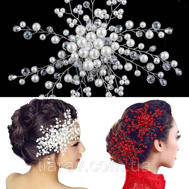 Гребінь весільний вечірній Аврора для волосся весільні прикраси