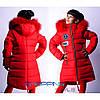 Курточка зимняя для девочки удлиненная на флисе