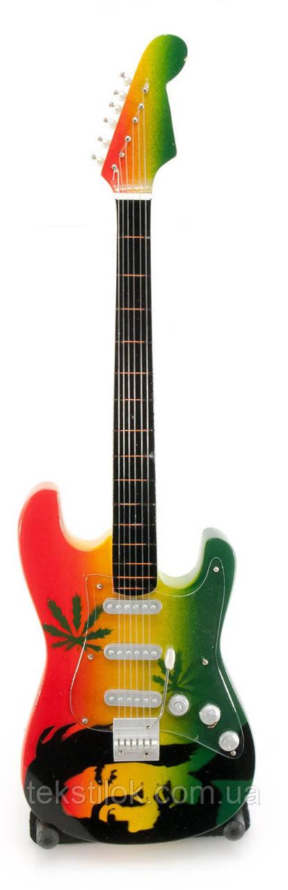 Сувенір Гітара мініатюра Bob Marley дерево