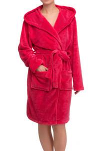 Яскравий жіночий халат в малиновому кольорі із кишеньками LAUMA 72D98