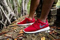 Кроссовки мужские Nike Roshe Run Red Gray