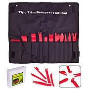 Съемник панелей облицовки пластиковый Alloid, набор 11 предметов (С-1012)